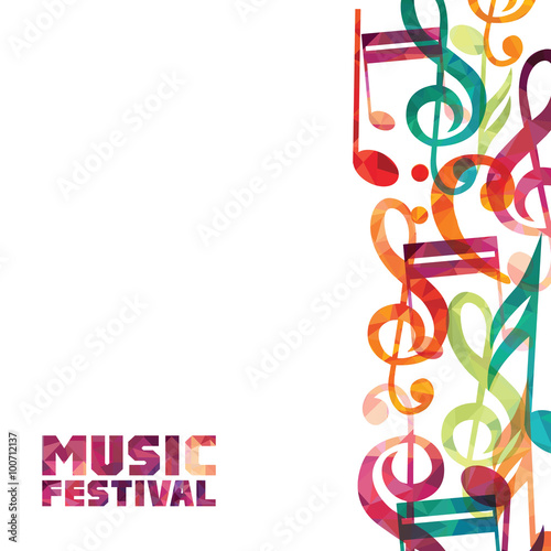 Canvas Print Music background. Vector illustration