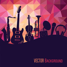 Music Background. Vector Illus...