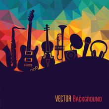 Music Background. Vector Illus...