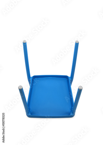 Prime Blue Plastic Cafe Chair On White Background Bottom View Alphanode Cool Chair Designs And Ideas Alphanodeonline
