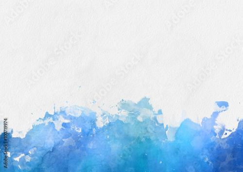 Obraz na płótnie Kolorowe niebieskie farby akwarelowe