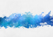 Artistic blue watercolor splash effect template