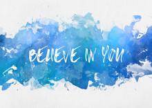Blue Paint Splash With Motivational Message
