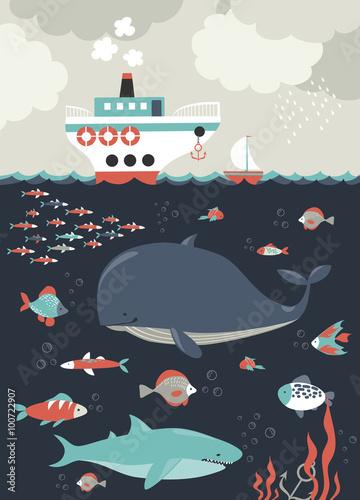 Życie morskie. Podwodny świat