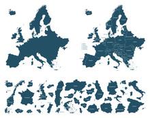 Europa Detaillierte Karten - V...