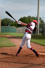 Youth Baseball Boy Swinging Bat
