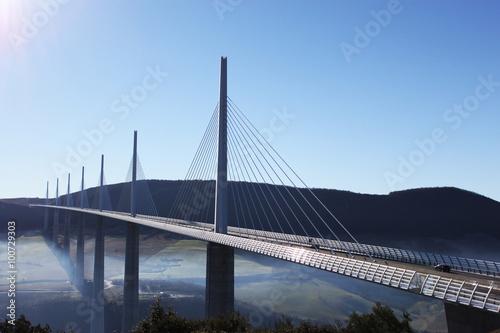 Deurstickers Brug Millau Viaduct France