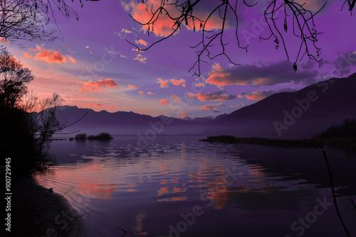 Fotografia  magico tramonto