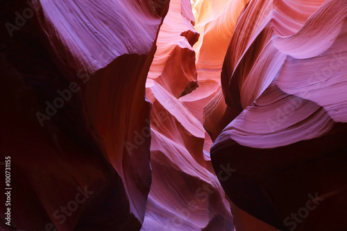 Poster Canyon Antelope Canyon as seen in the early afternoon, resulting in deep purple colors, Page, Arizona, USA