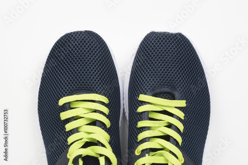 Fotografia  Zapatillas o playeras deportivas, detalle