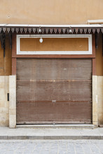 Closed Shop.Corrugated Door.