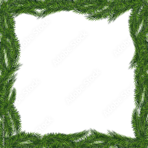 Christmas tree frame isolated. Vector eps10 - Buy this stock vector ...