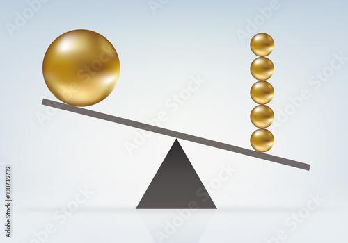 Fotografie, Obraz  Déséquilibre Boules