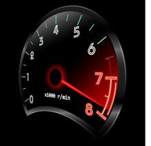 Tachometer 3D (revolution-coun...