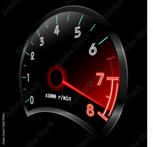 Photo  Tachometer 3D (revolution-counter , RPM gauge)