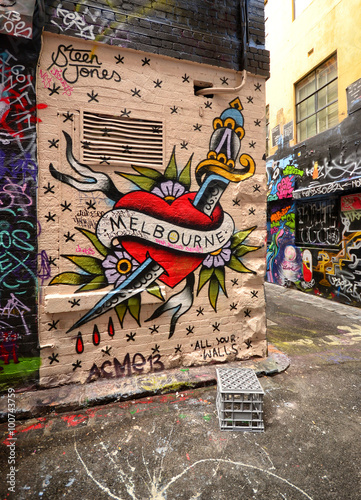 Poster  Graffiti auf Hosier Lane