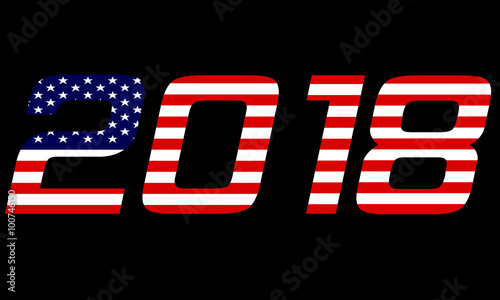 2018 Year..United States of America Wallpaper Mural