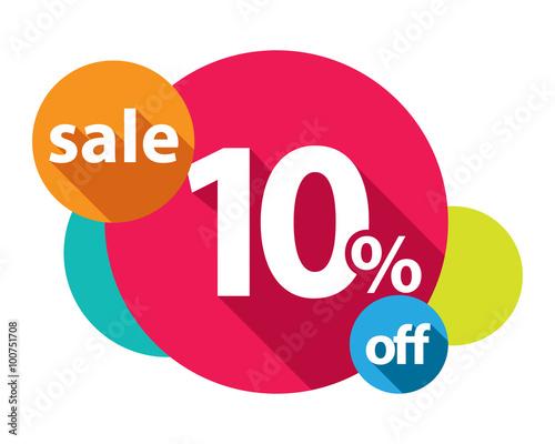 Fotografía  10% discount logo colorful circles