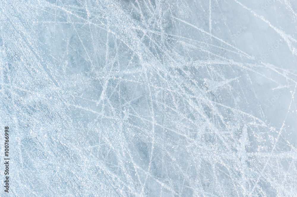 Fototapety, obrazy: Ice texture on a skating rink