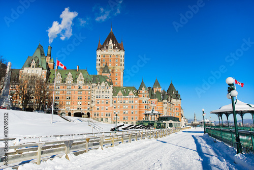 Fotobehang Canada Winter in Quebec city canada
