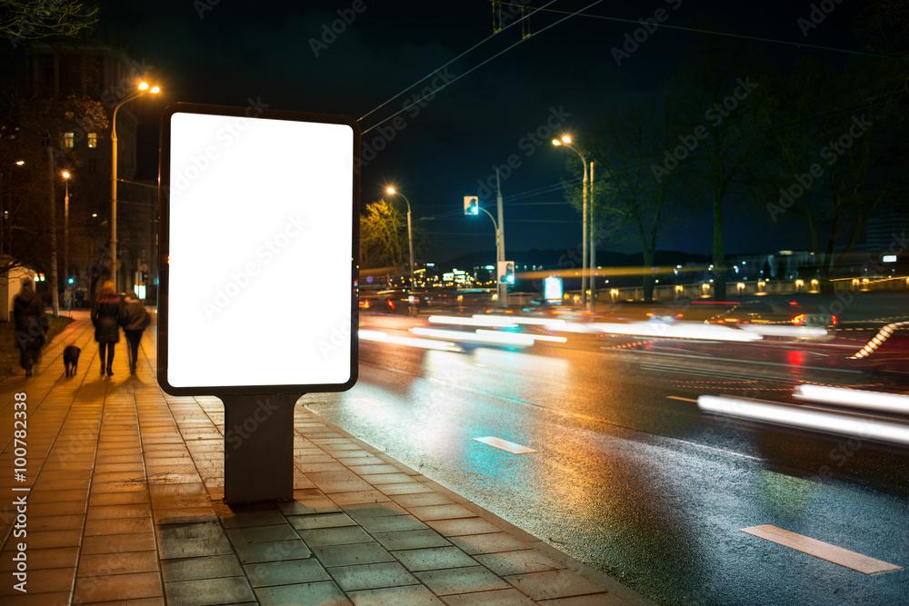 Fototapety, obrazy: City advertising billboard