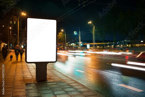 Obraz City advertising billboard - fototapety do salonu