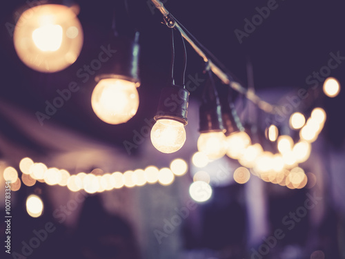 Foto op Plexiglas Retro Lights decoration Event Festival outdoor Vintage tone