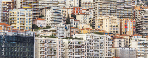 Fototapety, obrazy: MONTE-CARLO, MONACO, on JANUARY 10, 2016. A view of houses on a slope