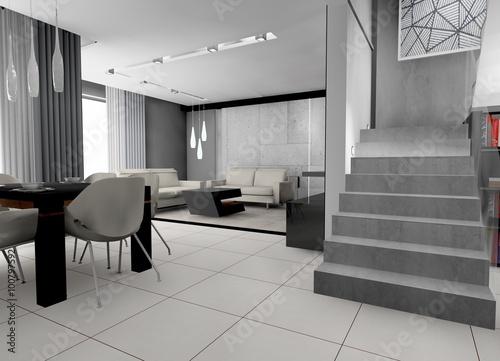 Fototapeta wizualizacja - wnętrze domu obraz