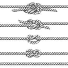 White Twisted Rope Border Set,...