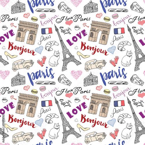 paris-wzor-z-recznie-rysowane-szkic