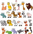 Set of vector cute cartoon animals