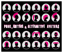 Anonymous Goth, Punk And Alternative Avatars