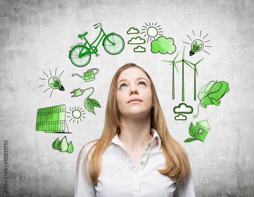 Photo  Alternative energy, clean environment