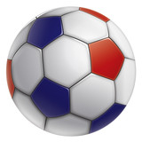BALLON DE FOOT TRICOLORE