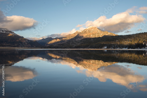 Aluminium Prints mountain reflection and the clouds colorado