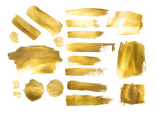 Collection Of Golden Paint Str...