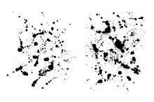 Two Grungy  Ink Blob Textures ...