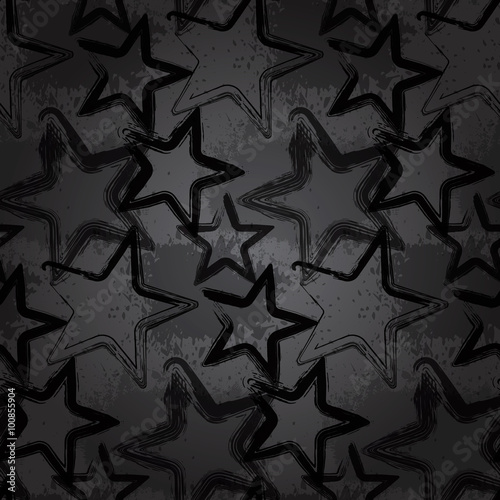 Valokuva  Grunge rock star background, brush smear stars
