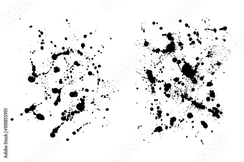 Two grungy ink blob textures for your designs