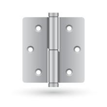 Silver Door Hinge : Vector Illustration