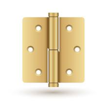 Brass Door Hinge : Vector Illustration