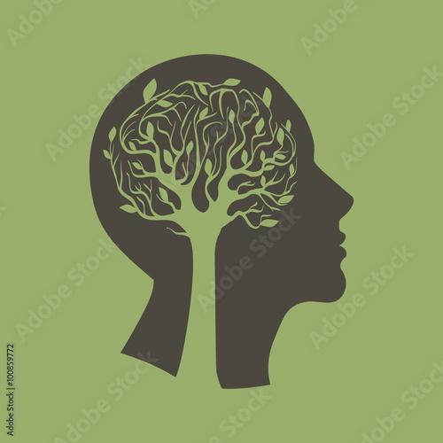 Fotografiet  голова и дерево