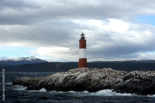 Garden Poster Lighthouse Lighthouse in the Beagle channel