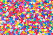canvas print picture - Konfetti, bunt und rund