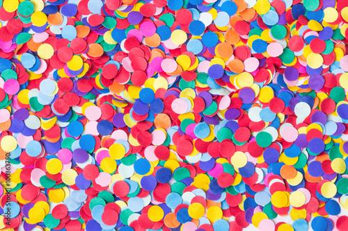 Fotografía  Konfetti, de colores und rund
