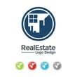 Real Estate Logo - City And Window Circle Design Logo Vector