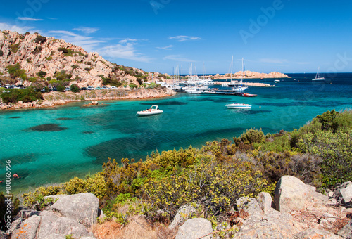 Photo  sardia italy spalmatore bay to la maddalena island