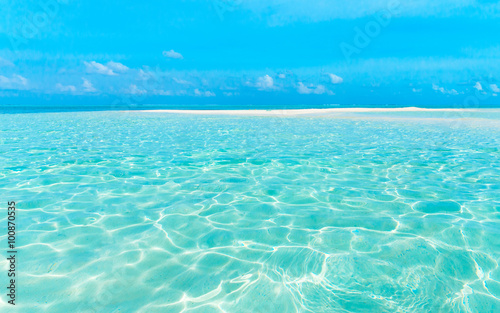 Türaufkleber Tropical strand beach in Maldives