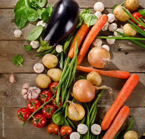 Photo Fresh organic vegetables. Healthy eating.